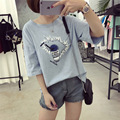 Summer New T shirts for Women Korean Loose Short-sleeved Cup Printing T-shirt Students Kawaii Casual Tee Shirt Female Plus Size