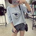 Verão Novas camisas de T para Mulheres-Copo Impressão T-shirt de manga Curta Solta Coreano Estudantes Kawaii Tee Camisa Casual Feminina plus Size