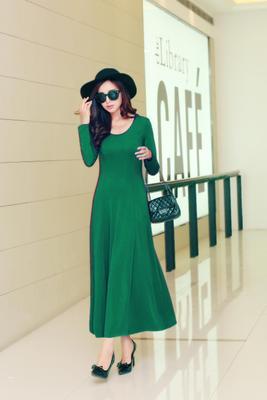 Летнее платье для женщин модное повседневное Макси платье размера плюс черные платья Бохо сарафан вечерние элегантные женские платья - Цвет: green long sleeve