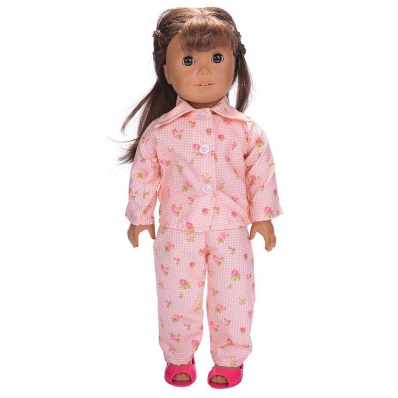 Cute Design pullip dolls Pajamas Nightgown Clothes For 18 inch American Girl Dolls Clothes For Baby Born Doll Accessories