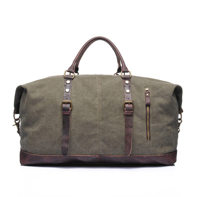 Nesitu High Quality Vintage Big Large Capacity Army Green Grey White Khaki Canvas Men Travel Bags Messenger Bags M2077