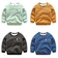 1-6 Age Toddler Winter Thickening Sweatshirt Baby Boys Warm Outerwear Kids Casual Pullover Hoodie For Boy