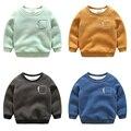 1-6 Idade Da Criança Espessamento Inverno Camisola Do Bebê Meninos Outerwear Crianças Quente Pulôver Ocasional Moletom Com Capuz Para Menino