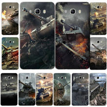 Moda New World Of Tanks Macio TPU Silicone Casos de Telefone Móvel para Samsung Galaxy A3 A5 A7 J1 J2 J3 j5 J7 2016 2017 Coque Shell(China)