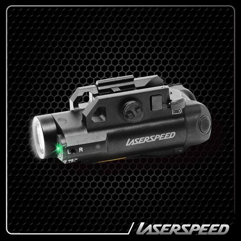 Laserspeed Compact Picatinny Light LED Tactical Gun Light Aiming Laser Sight Tactical Laser Flashlight