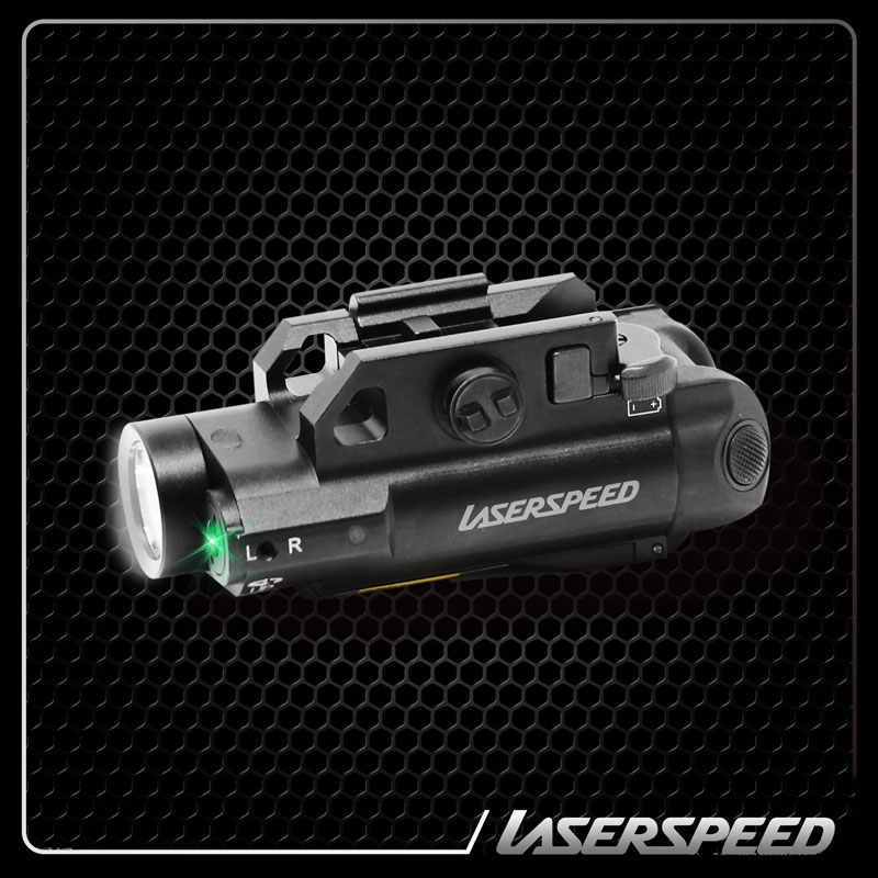 Laserspeed Compact Picatinny Licht LED Tactical Gun Licht + Gericht Laser Sight Tactical Laser Zaklamp