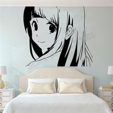 Manga Anime Cartoon Beautiful girl Wall Sticker Fashion Girl Room Decoration Vinyl Art Design Removeable Ornament Decals LY951