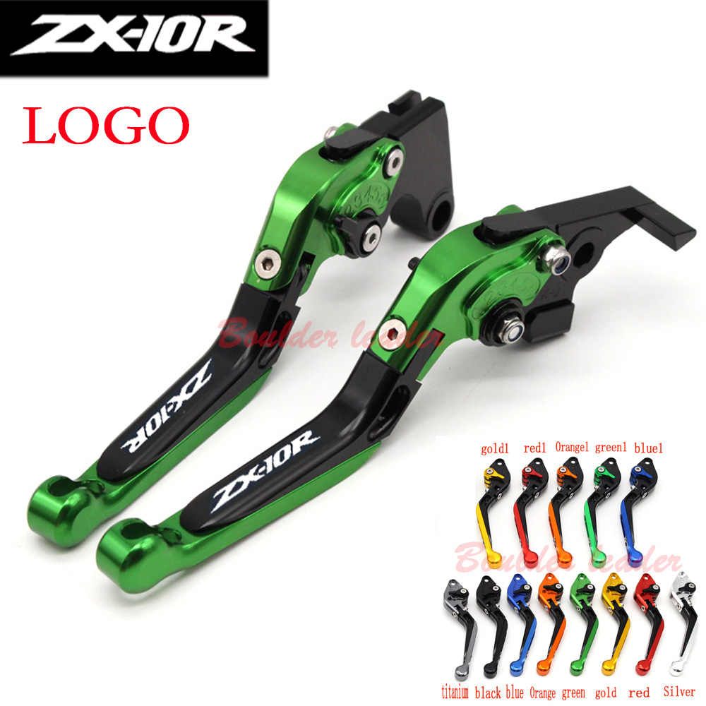 green 13 colors cnc motorcycle brake clutch levers for kawasaki zx10r 2006 2007 2008 2009 2010 [ 1000 x 1000 Pixel ]