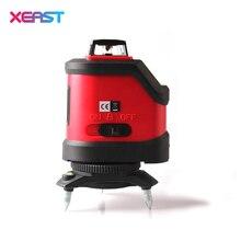 XEAST XE-12A rojo o Verde 3D láser medidor de nivel de 5 Líneas de 360 grados Autonivelante Mini portátil Instrumento Con línea oblicua
