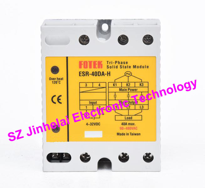 ESR-40DA-H New and original FOTEK 3-Phase Solid state module 40A esr 60da new and original fotek ssr solid state module 3 phase solid state relay