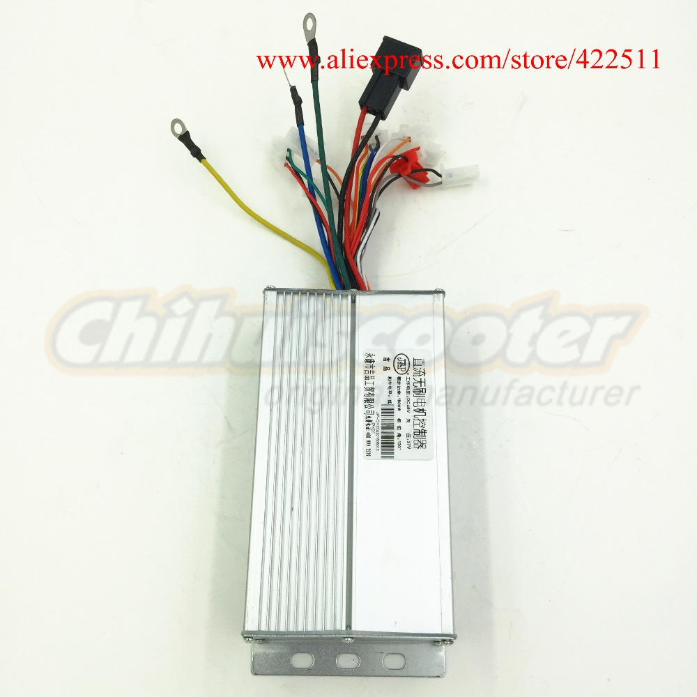 Electric Scooter Controller 1800w 48v Brushless Dc Motor 37a Bldc With Double Speed Connection In Parts Diagram Quotes