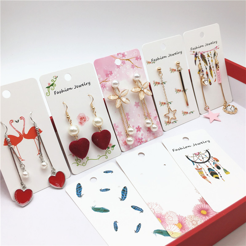 12pcs/lot New Type 9x5cm Jewelry Packaging Card Nice Kraft Cardboard Card Handmade Earring Accessories Display Cards