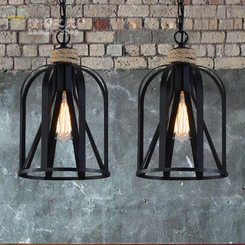 American country pendant light LOFT retro industrial hemp Mediterranean Cafe Bar Iron creative pendant lamp high quality branch shape iron reminisced pendant lamp loft northern europe american vintage retro country pendant light