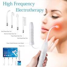 Wysokiej częstotliwości Darsonval twarzy różdżka elektrody punkt przyrząd do usuwania zaskórników pielęgnacja skóry twarzy włosów Spa domu Salon uroda urządzenie