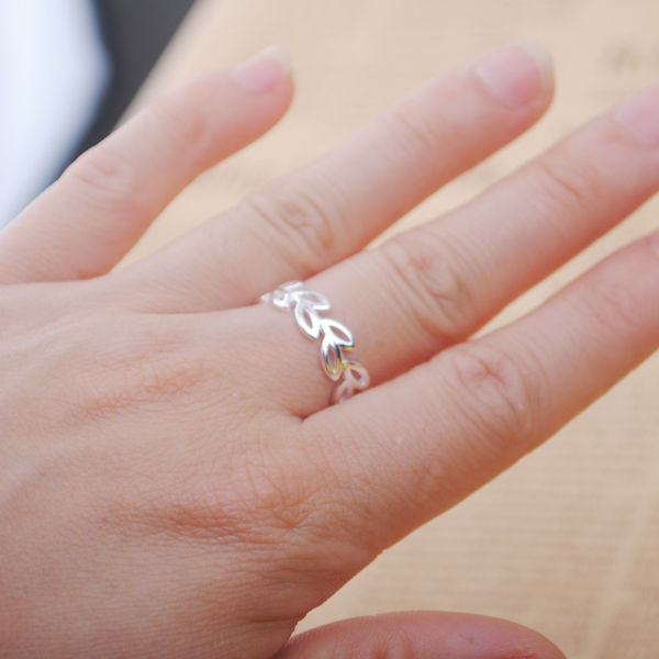 Bohemian Vintage Silver Color Leaf Rings for Women Bijoux Gift Female Adjustable Size Finger Rings Anillos Wholesale 3