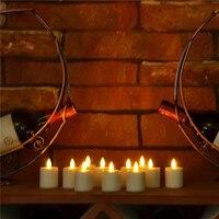 6 PSC sin llama vela de té recargable religiosa Votive tealight vela para cumpleaños decoración elegante luz ámbar