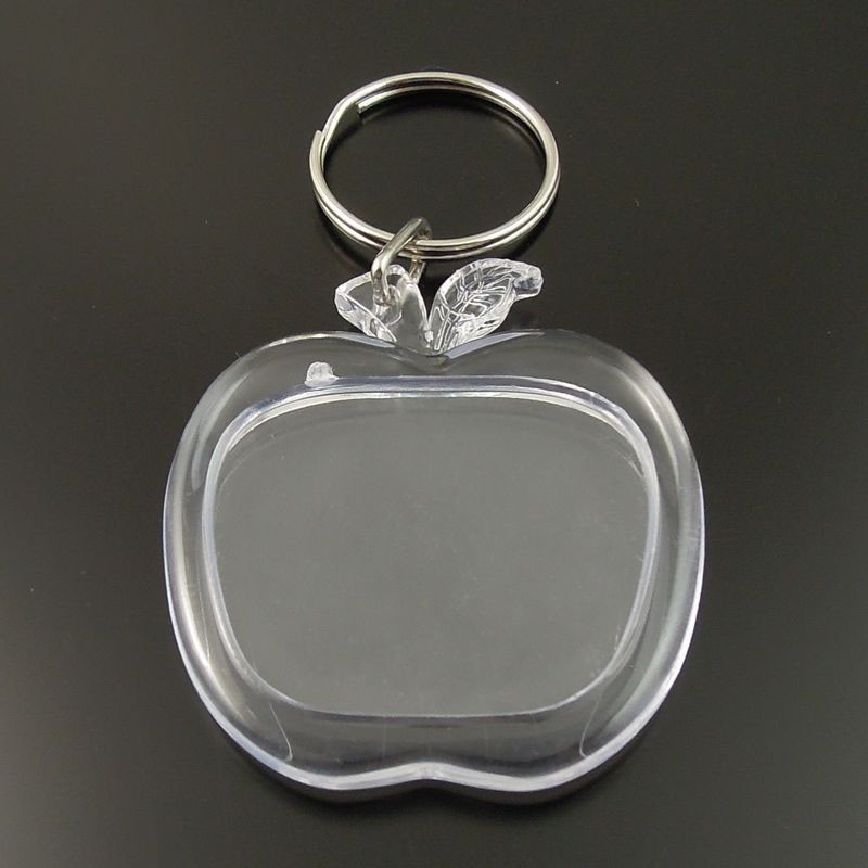 8PCS Transparent Clear Apple Shape Photograph Case Keychain Keyrings Keychain  Women Men Handmade Key Chain Key Holder Gifts-in Key Chains from Jewelry ... d426108ca