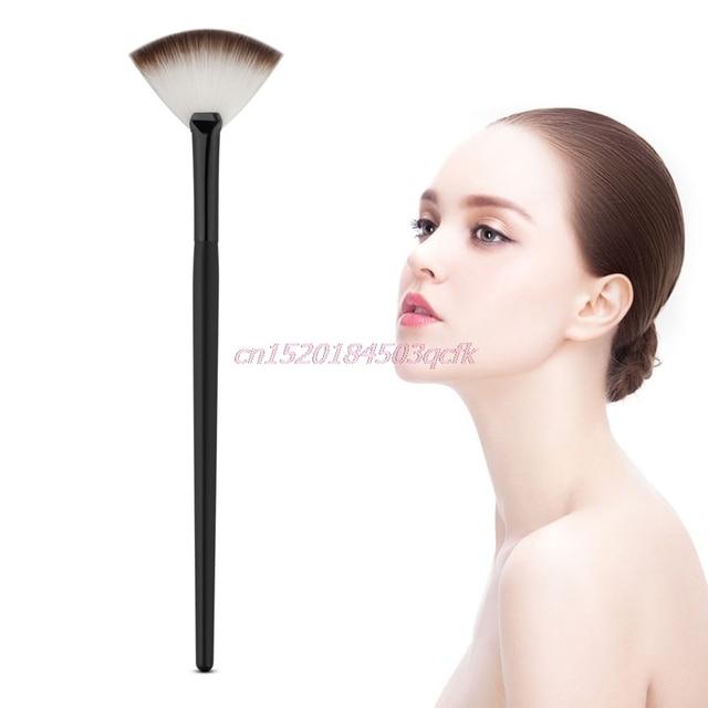 Brocha de maquillaje profesional con forma de ventilador, mezcla de cosméticos, polvo de contorno para rostro nuevo # H056 #
