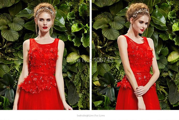 eli saab evening 2018 Formal flowers vestido de renda longo fashion sexy red long lace elegant mother of the bride Dress in Mother of the Bride Dresses from Weddings Events