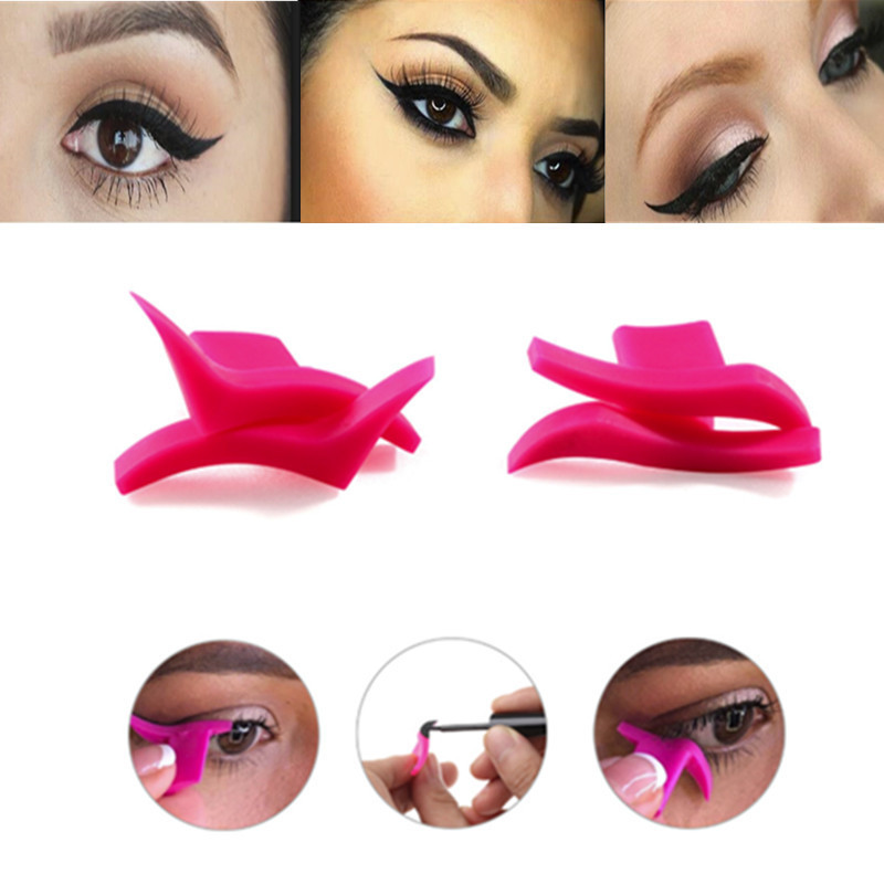 Beauty Essentials 2pcs Eyeliner Mold Wings Seal Stamps Easy To Wear Eyes Wing Liquid Eye Liner Tools Maquiagem Beauty Portable Cosmetic Delineador Limpid In Sight