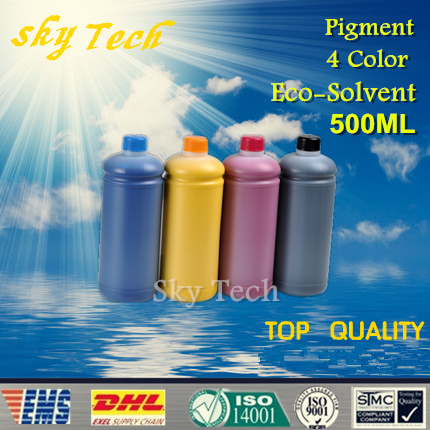 500ML*4 Eco Solvent Ink , suit for Mimaki series printer , Pigment Eco Solvent Ink ,out door advertising Ink