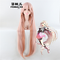 Vocaloid 3 IA Pink Long Wig Cosplay Straight Cosplay Role Play Hair