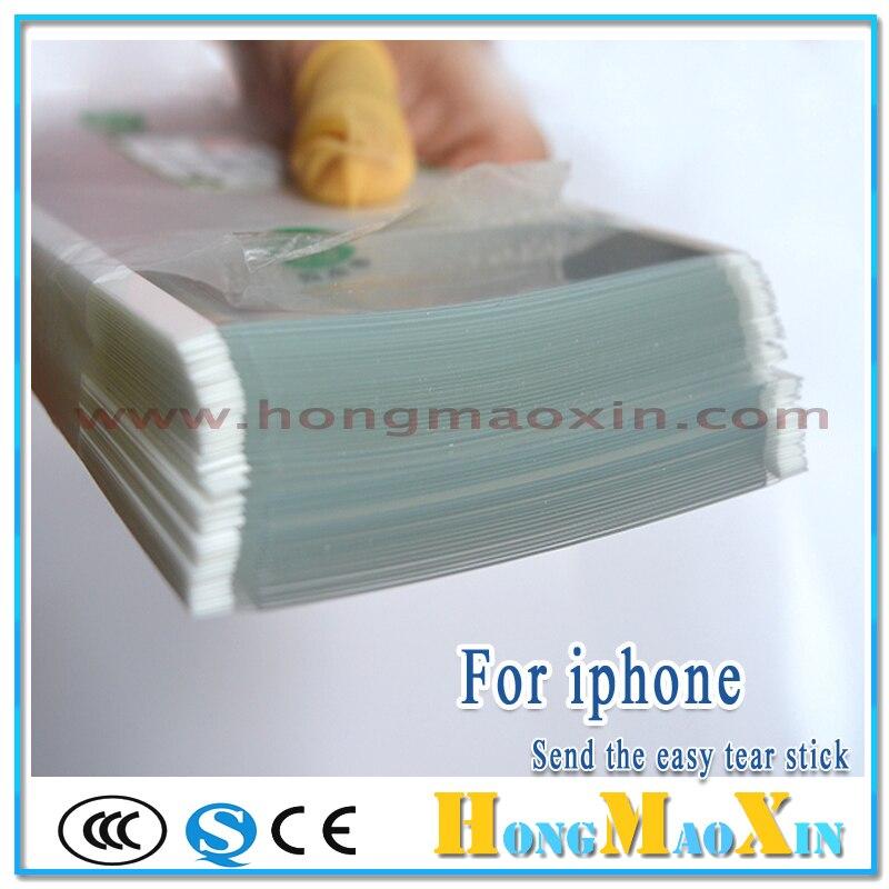 bilder für Für Mitsubishi 250um OCA Optical Klar Adhesive Klebefolie Doppelseitigen Aufkleber für iPhone 4 5 SE 5 S 6 6 S 6 P 6SP 7 Plus LCD Reparatur