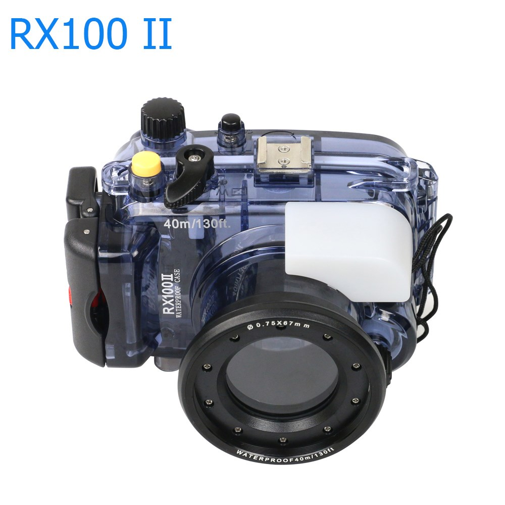 Image 4 - For Sony RX100 II 2 Mark II Camera Housing Case Underwater 40m Photogeraphy Waterproof Camera Bag Suitable for Swiming Surfing-in Sports Camcorder Cases from Consumer Electronics