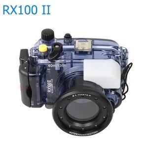 Image 4 - Pour Sony RX100 II 2 Mark II boîtier de boîtier de caméra sous marine 40m Photogeraphy sac de caméra étanche adapté pour le surf