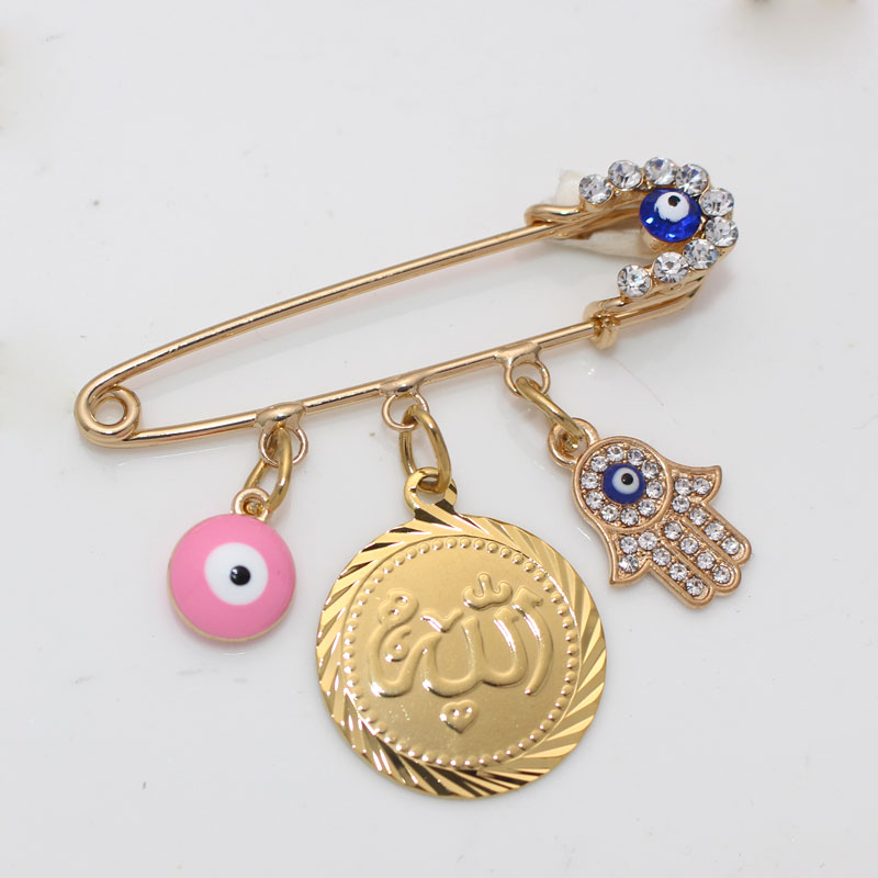 muslim Allah brooch Turkish evil eye baby pinBrooches