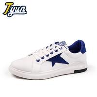 Tyun Hombres Zapatos Casuales Zapatos de Lona Planos de Los Hombres Zapatos de Marca Hombres Zapatillas Deportivas Zapatos Sapato masculino Retro Artístico Blanco