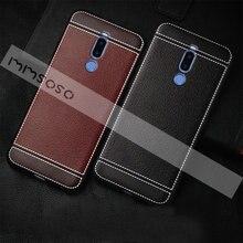 Đối với Meizu M8 Bìa Trên Meizu M8 M8 lite Leather Cover Quay Lại Điện Thoại Trường Hợp Đối Với Meizu M8 Lite