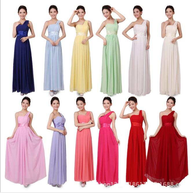 Plus Size   Bridesmaid     Dress   Elegant Long Gown One Shoulder Wedding Party   Dresses   Large Size Ruched Prom   Dress   vestido Q023
