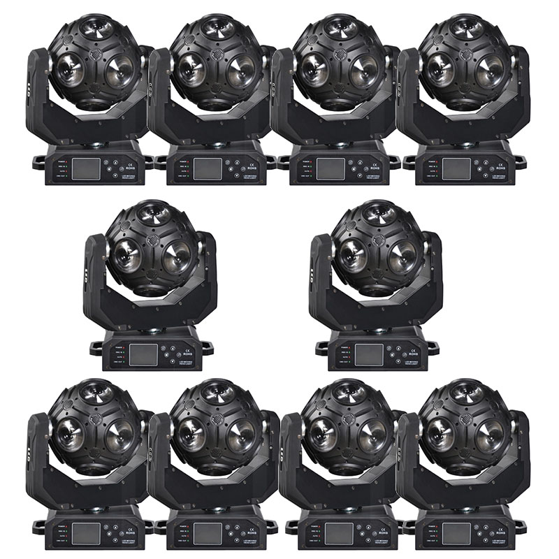 10pcs Football Led Moving Head Light Y Axis Endless Rotation 12x20W cree RGBW 4IN1 LEDS Solar Storm 12*12 w 4in1 led football|Stage Lighting Effect| |  - title=