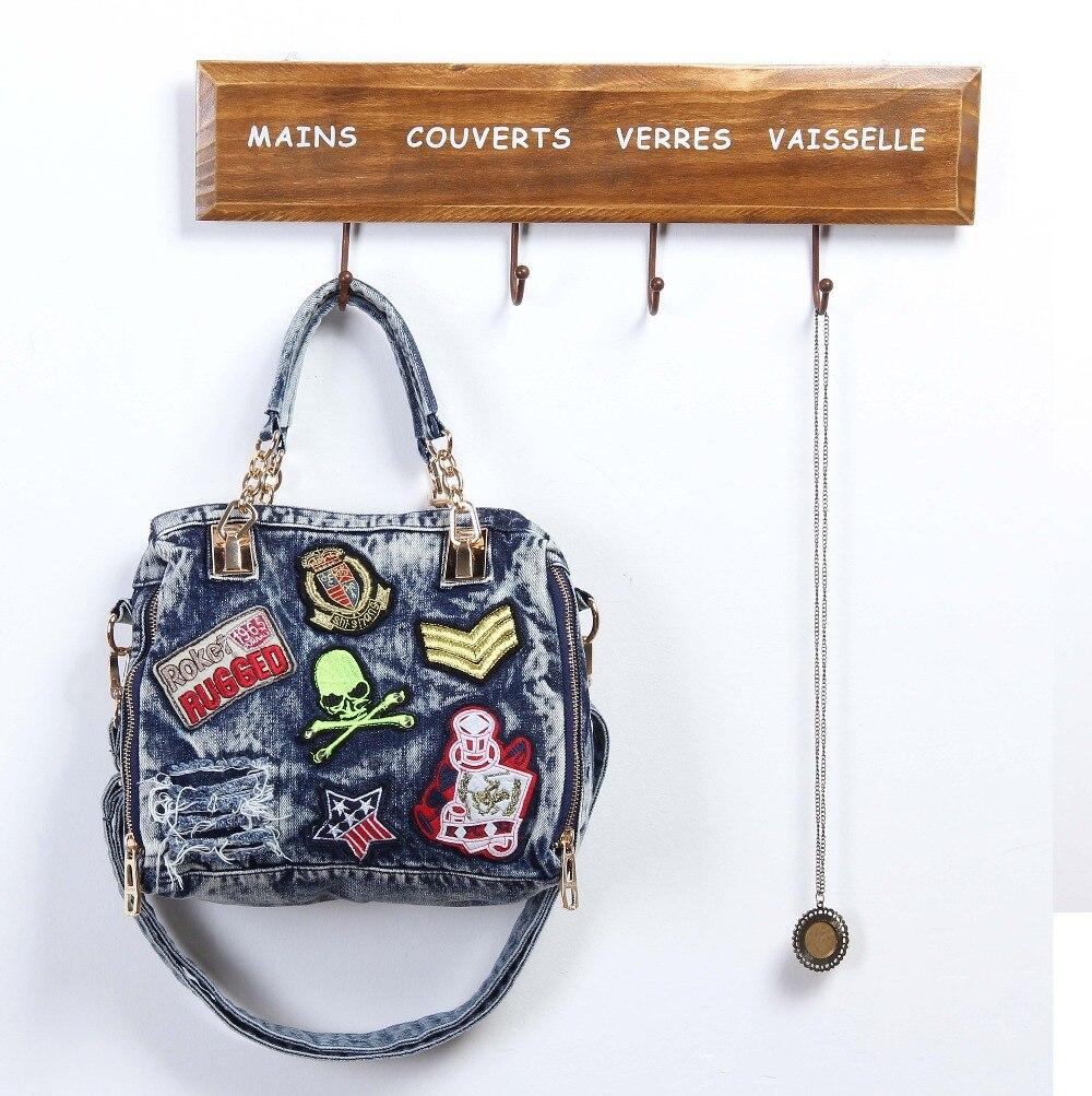 Women Blue Denim Designer Handbag