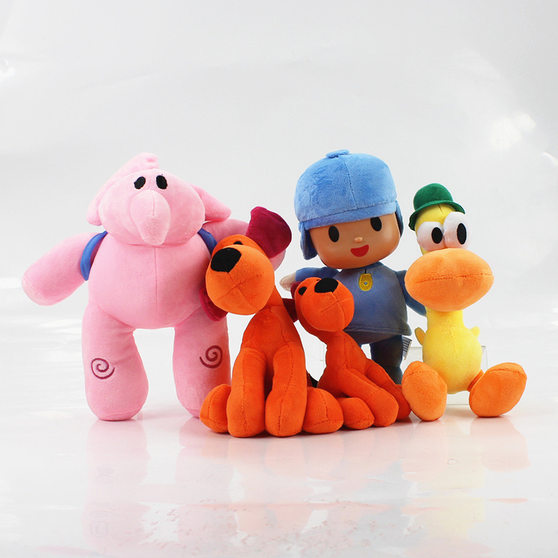icottbaby 14cm-30cm Figure Cartoon Pocoyo Plush Toys POCOYO Pato Loula Elly Anime Soft Doll Kids Brinquedos Childrens Gifts
