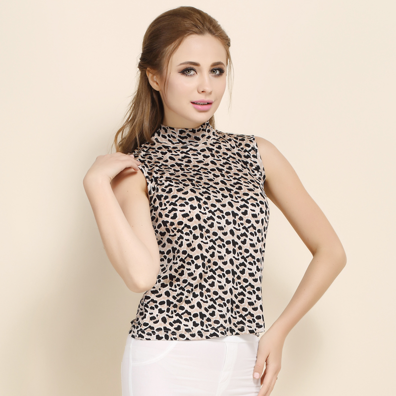 7064042522 100% Silk Print Womens Mock Turtleneck Sleeveless Tank Top Size L XL XXL  3XL-in Tank Tops from Women's Clothing on Aliexpress.com | Alibaba Group
