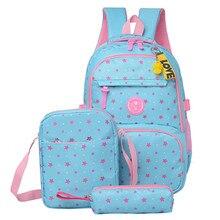 3 teile/sätze Hohe Qualität Schule Tasche Mode Schule Rucksack für Jugendliche Mädchen schulranzen kid rucksäcke mochila escolar