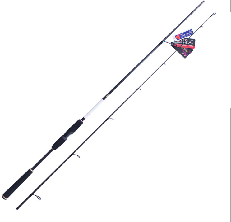 ФОТО Goture Spinning Fishing Rod 2.4m M Power Carbon Fiber Lure Fishing Pole For Bass Trout