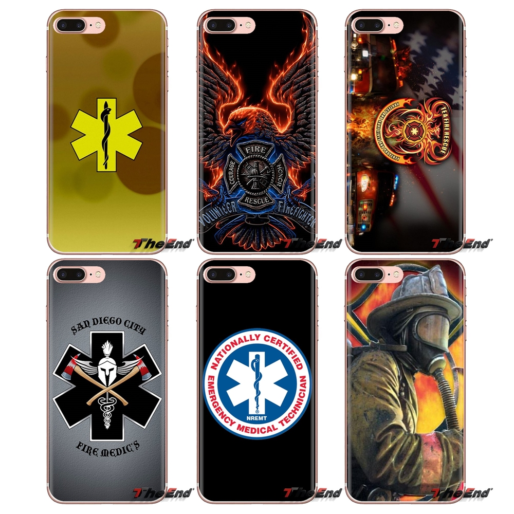 For Xiaomi Redmi 4A S2 Note 3 3S 4 4X 5 Plus 6 7 6A Pro Pocophone F1 Soft Transparent Bag Case Firefighter Fire Paramedic Rescue