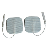 Whosale 1000Pair Self Adhesive Reusable Tens Electrode Pads 4*4cm 2mm Plug For Digital Physiotherapy Massager Body Health Care