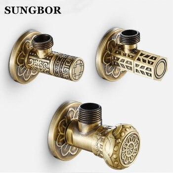 Free Shipping antique brass Triangle valve bathroom accessory 1/2*1/2 brass angle valves JF-840F автосиденья и аксессуары jufeng seat jf b 29 page 5