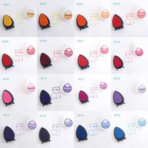 Image 2 - (10 adet/grup) hızlı kurutma gözler pigment mürekkep pedi damla şekli dekorasyon için oyma lastik damga, karalama defteri inkpadler için DIY yaratıcı