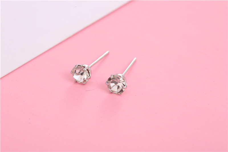 HTB1hz1WQHvpK1RjSZPiq6zmwXXa6 - 12 Pairs/set Crystal Stud Earrings for Women New Fashion Cute Earring 4mm Small Simple Crystal Earrings Jewelry Gifts