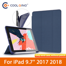 Original BGR TPU Soft Tablets Case For iPad 9.7 2017 2018 Smart Wake Sleep Cover With Pen Slot