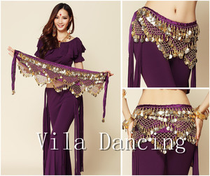 Image 5 - Новый стиль монеты танец живота Талия цепи Hip шарф живота Танцы ремень, 9 видов цветов для вашего выбора.