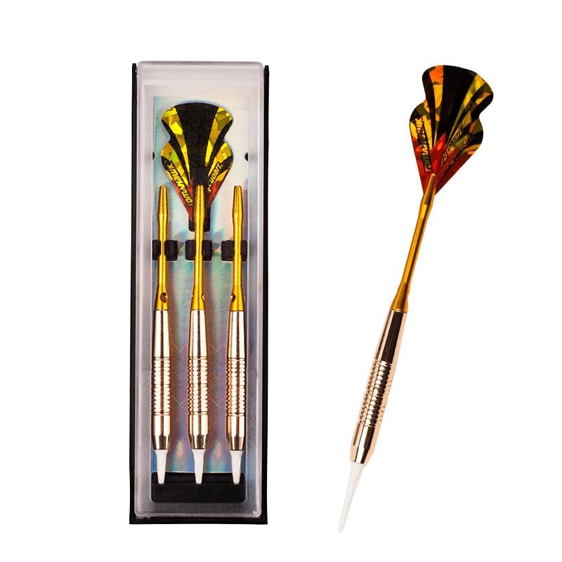 copper aluminum shaft Soft tip dart toy 3pcs//Box JK New High quality 18g steel