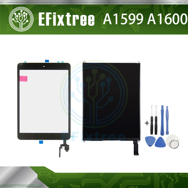 New A1599 A1600 Touch Screen With board For iPad Mini 3 LCD Display 7.9 inch With Tool and Sticker and Home button