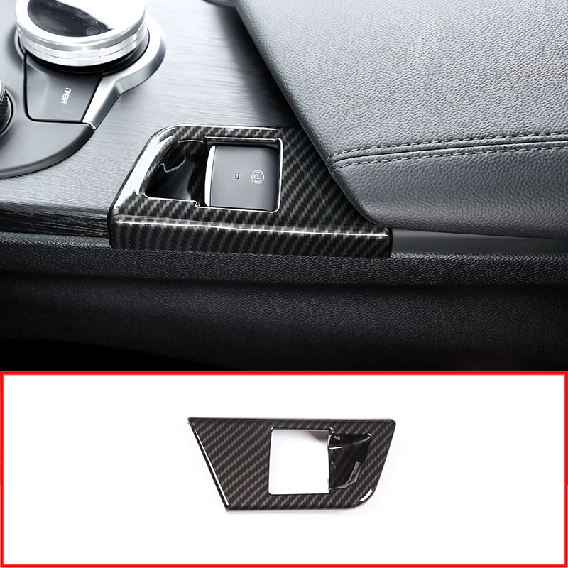 Carbon Fiber Style P File Electronic Handbrake Sequins Cover Trim For Alfa Romeo Giulia 2017 Car Accessories