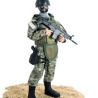 NB series 30cm camouflage plastic belt toy gun military model 16 soldiers